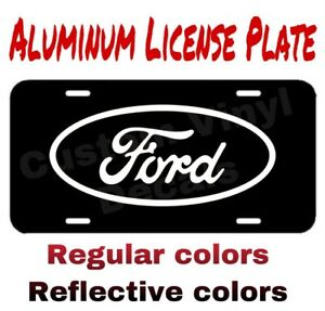 Aluminum License Plate Ford Logo Many Colors Reflective Colors