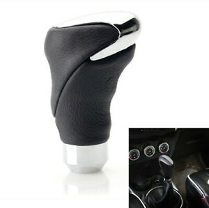 Car Shift Gear Knob Head Manual Automatic 2019 Cool Black Leather Universal