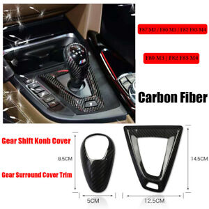 Carbon Fiber Car Gear Shift Knob Cover base Cover Trim For Bmw M3 F80 M4 F82 F83
