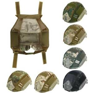 Tactical FAST HELMET COVER Hunting Airsoft Gear Sports Headwear Camouflage