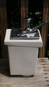 Antique Ice Cream Parlor Soda Fountain Fischman Syrup Dispenser Pump Vanilla