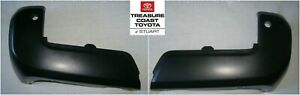 2 New Oem Toyota Tacoma 16 19 Matte Black Rear Unpainted Bumper End With Sonar