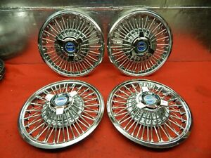 4 Takeoff 65 66 Ford Galaxie Mustang Fairlane Wire Wheelcover c5az 1130 d
