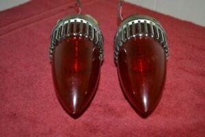 Antique Original 1959 Cadillac Led Red Mount Rear Tail Brake Light Lamp