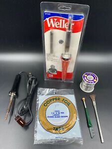 2 Soldering Irons Weller Spg80 80w 120v 3 8 Chisel Tip Stained Glass