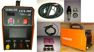 Non touch Pilot Arc Plasma Cutter Cut50f 50amp 220v Comes With 18 Consumables