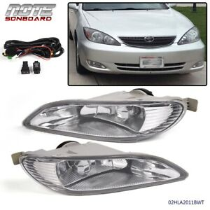 For Toyota 05 08 Corolla 02 04 Camry Clear Bumper Driving Fog Lights Wiring