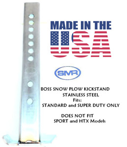 Snow Plow Snowplow Kickstand Stand Boss Straight Blade Stainless Steel Made Usa