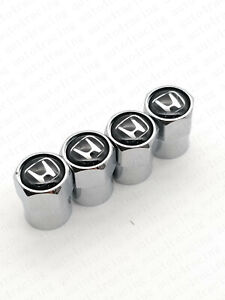 For Honda With H Logo Car Wheel Tire Air Valve Cap Stem Dust Cover Black