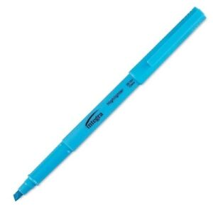 Pen Style Highlighter Chisel Point Fluorescent Blue Case Of 96