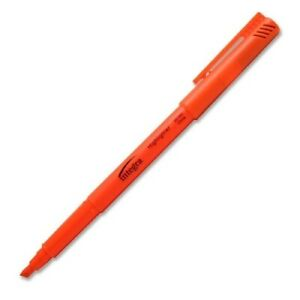 Pen Style Highlighter Chisel Point Fluorescent Orange Case Of 96