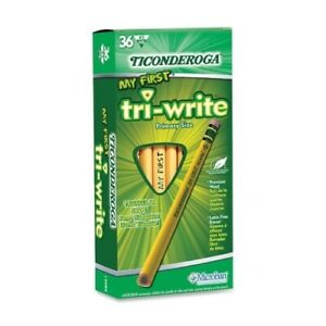 Dixon Ticonderoga No 2 Penciltriangular Shapebeginner W eraser36 bx Case Of 2