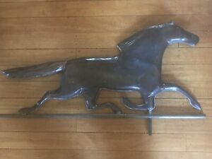 Antique Copper Running Horse Weathervane 30 X 17 Nice Aged Patina