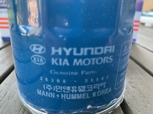 Hyundai Kia Oil Filter 7 With Washers Oem New 26300 35503