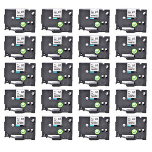 20pk 12mm Label Tape For Brother P touch Pt 1880w Tz 231 Tze 231 Black On White