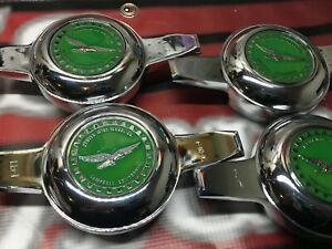 Lowrider Hydraulics Wire Wheel Knock Offs 4 4 Zenith Green Chrome Chips