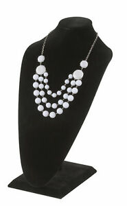 Tall Black Velvet Necklace Display 2 Included