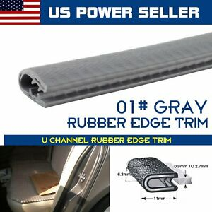 Weather Stripping Auto Parts Door Rubber Seal Trim Lock 24ft 7 16 X1 2 Gray
