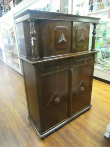 Vintage Walnut Liquor Cabinet Or Storage