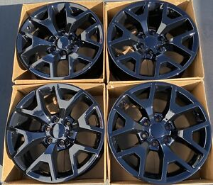 20 Nissan Titan Xd Oem Factory Wheels Rims Gloss Black 62727 6x5 5