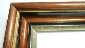 Victorian Silver Gilt Walnut Picture Frame 15 3 4 X13 1 2 X3 Deep Fine Quality