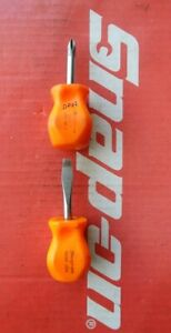 Snap On Tools Flat Tip 2 Phillips Tip Stubby Screwdrivers Sdd1 Sddp22