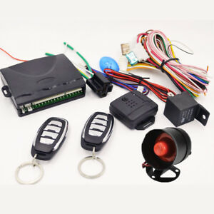 Car Central Door Lock Universal Entry System Remote Control Kit Way Alarm Siren