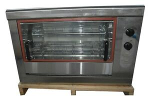 Commercial Rotisserie Oven 4 Chicken Capacity 110v Control gas Propane us New