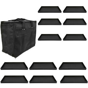 Jewelry Travel Salesman Sample Display Carrying Case 12 Pc 1 Deep Tray