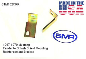 1967 1970 Ford Mustang Splash Shield Seal Brackets Stmm132cpr Made In The Usa
