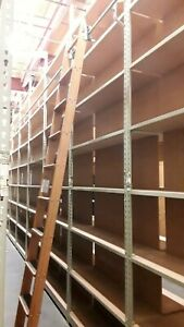 Over 1100 Sq Ft Of Warehouse Storage Shelves Equipped Rolling Ladders