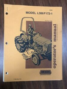 Woods Finish Mower L306 F172 1 Operator s Manual For Ford 1720 Rev 3 89