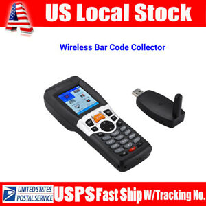 Portable Wireless Wired Barcode Scanner Inventory Data Terminal Collector Scan