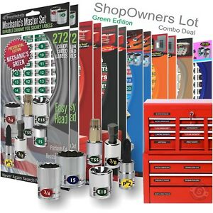 Shop Owners Lot Green Magnetic Toolbox Socket Labels Much More Organize Now