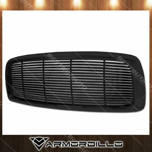 Fits 2002 2005 Dodge Ram 1500 Horizontal Grille Replacement Gloss Black