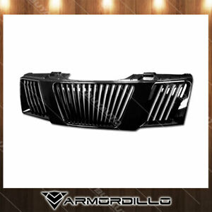 Fits 2005 2008 Nissan Pathfinder Vertical Grille Replacement Gloss Black
