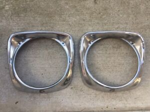 Ford Truck F100 F250 Steel Headlight Bezels Rim 1961 1962 1963 1964 1965 1966