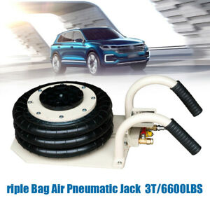 6600lbs Triple Bag Air Jack 3 Ton Lift Jack Pneumatic Jack Air Bag Jack 6 8 18