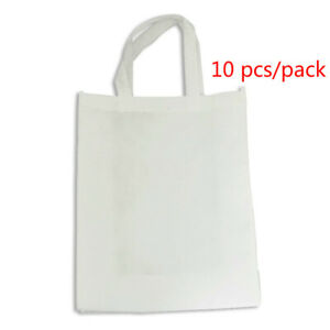 Us 10pcs pack 11 8 X 15 7 Blank Sublimation Non woven Shopping Bags Tote Bags