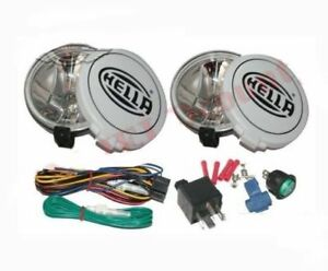 Hella Comet 500ff Kit Spot Driving Lamp Light With Cover 2 For Jeeps Truck Cdn