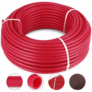 1 2 300ft Pex Tubing Non Barrier Red Roll Pipe Water Radiant Heat Pipe Potable