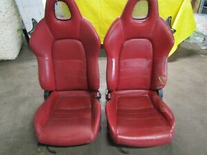 00 09 Honda S2000 Red Leather Seats Oem Ap2 Ap1
