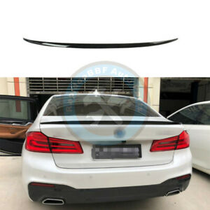 Gloss Black Rear Tail Trunk Lip Spoiler Wing Fit For Bmw 5 Series G30 2018 2020