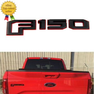 For 2015 18 Ford F 150 Rear Tailgate Emblem Nameplate Red Blk Oem Gl3z 9942528 A