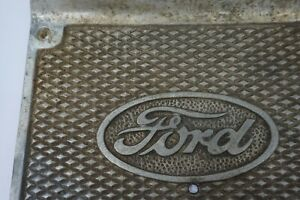 Pair Of Antique Ford Model A Running Board Step Aluminium Plates
