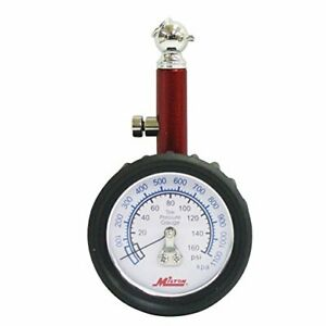 Milton S933 Tire Gauge 0 160 Psi Kpa 0 1100 45 Degree Chuck Durable Rubber Boot