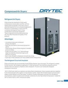 New 200 cfm Sde Us 200 Drytec Usa Refrigerated Air Dryer 230 volt 1 phase