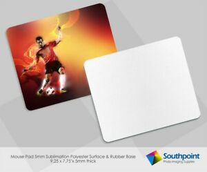 Mouse Pad Sublimation 5mm Rectangle With Rubber Base Polyester Surface 50 Qty