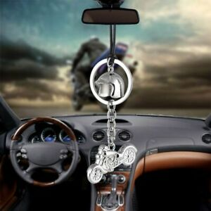 Car Pendant Mini Harley Motorcycle Style Automobile Interior Mirror Decoration
