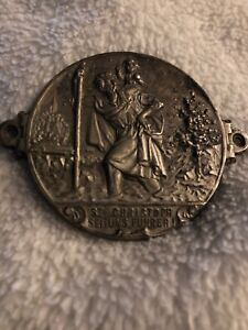 Germanvintage St Christopher Medal Car Badge Words In German Must See
